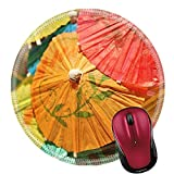 japanese alcoholic beverages - Liili Round Mouse Pad Natural Rubber Mousepad IMAGE ID: 24850125 cocktail drink umbrellas