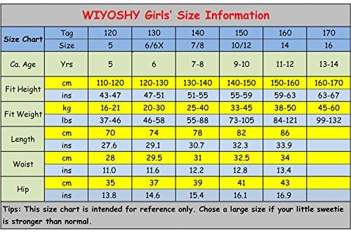 WIYOSHY Girls Skinny Ripped Elastic Pull On Denim Jeans Belt Age 5-14 Years (Blue, 7/8 (140)) by WIYOSHY (Image #6)