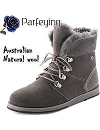 Winter Boots for Women, Waterproof Sheepskin Shoes, High...