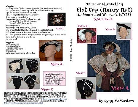 (Men's and Women's Tudor & Elizabethan Flat Caps Pattern)