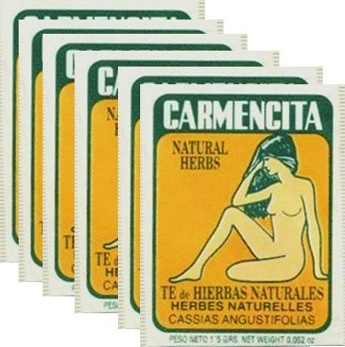 Carmencita Herbs Tea. Pack of 60 individual tea bags. by CubanFoodMarket