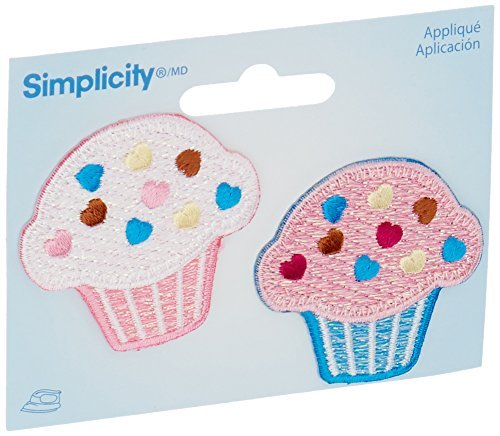 Wrights Iron-On Appliques-Cupcakes 1-3/4