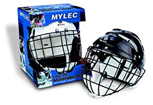 Mylec Helmet with Wire Face Cage - Senior - White
