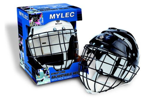 Helmet Hockey Foam (Mylec Sr. Helmet with Wire Face Guard, Black)