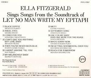 Ella Fitzgerald Let No Man Write My Epitaph Amazon Com