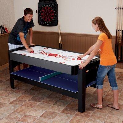 - Fat Cat Original 3-in-1, 6-Foot Flip Game Table (Air Hockey, Billiards and Table Tennis)