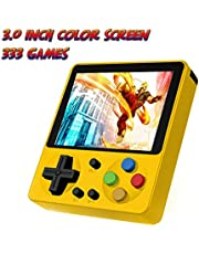 Huongoo Retro Handheld Game Console, Portable Video Game 3 Inch HD Screen 333 Classic Games,Game Console Can Play on TV, Good Gifts for Kids