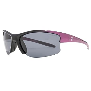 Freedom Polarised Kinabalu halb randlose Wrap Sonnenbrillen in schwarz, lila FRG145408 Black to Purple Grey Polarised One Size