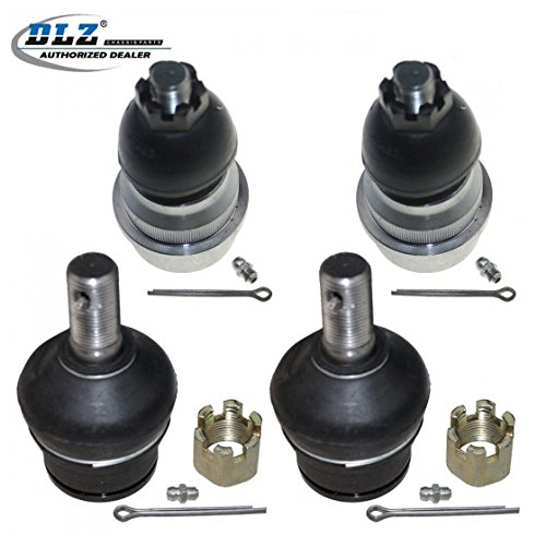 DLZ 4 Pcs Front Suspension Kit-2 Upper 2 Lower Ball Joint Compatible with 2000 2001 Dodge Ram 1500 Pickup 4WD 4X4K3134T K7401