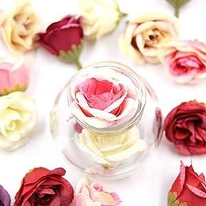 Artificial Flowers Fake Flower Heads Rose Silk Flowers Tea Rose Heads DIY Wreath Festival Home Decor Gift Box Scrapbooking Wedding Party Decoration Fake Flowers 30PCS 115