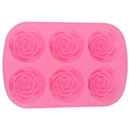 Molde para pastel de 6 cavidades Molde de silicona rosa en ...