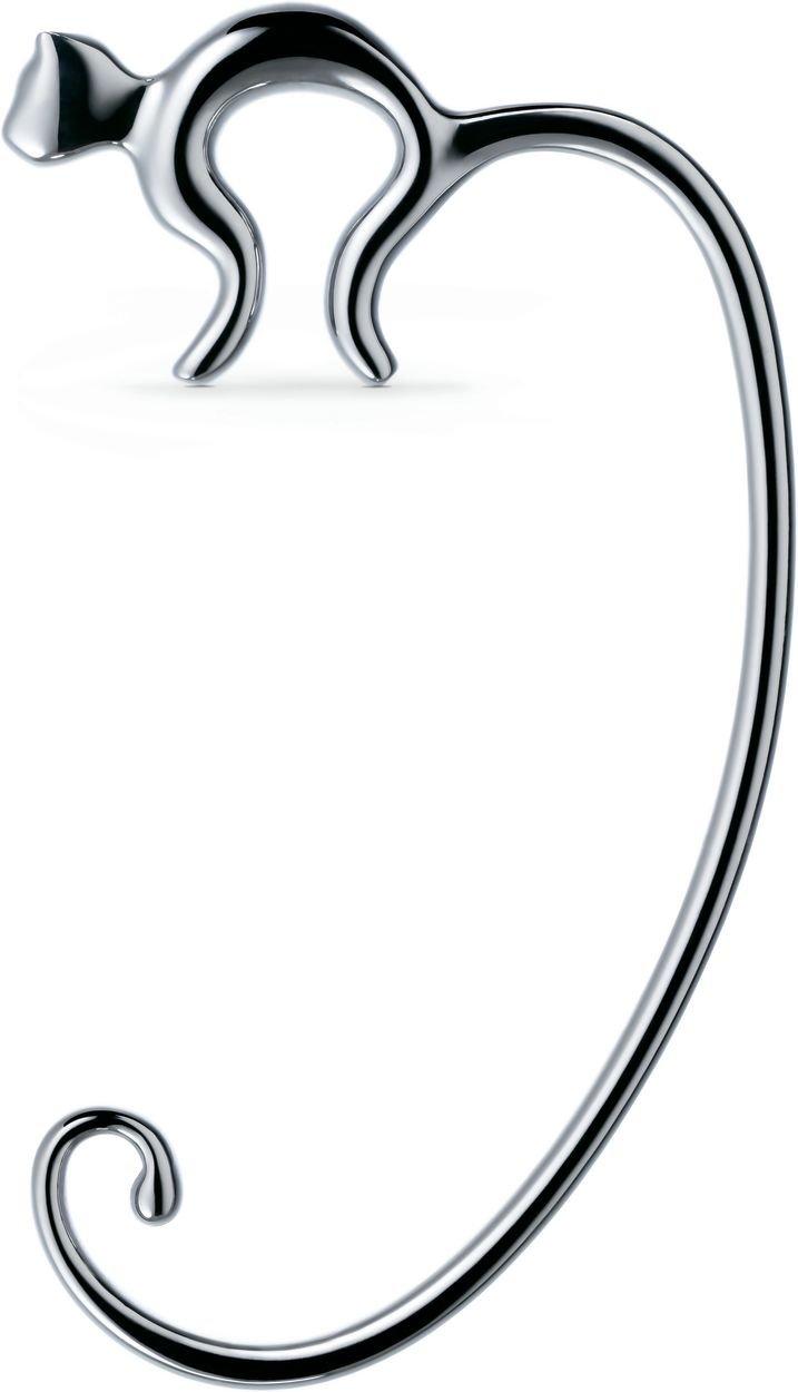 Alessi Aleesi FGO01 Minou Purse Hook, Silver