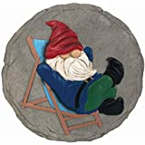 Spoontiques 13249 Lounging Gnome Stepping Stone, Multicolored
