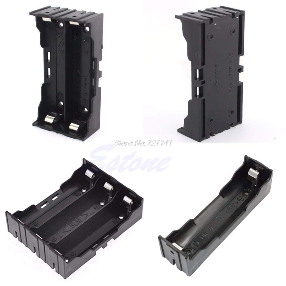 1Pc Plastic Battery Case Holder Storage Box for 18650 Rechargeable Battery 3.7V DIY Electronics Stocks