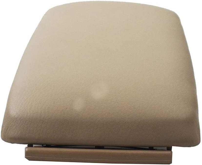 WFLNHB New Beige Leather Armrest Center Box Console Lid Cover Fit for 2004 05 06 07 08 Audi A4 B7