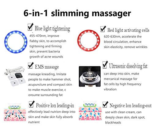 CYEVA Weight Loss Massager EMS Multifunctional 6-in-1 Vibration Beauty Device Sliming Fat Remover Machine for Body Shaping & Skin Tightening by CYEVA (Image #6)