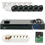 GW Security GW8CH6C9082CVM 8 Channel HD-CVI DVR (6) 2.8-12mm Motorized Zoom 2MP 1080P Weatherproof Sony Cmos Video Security Camera System