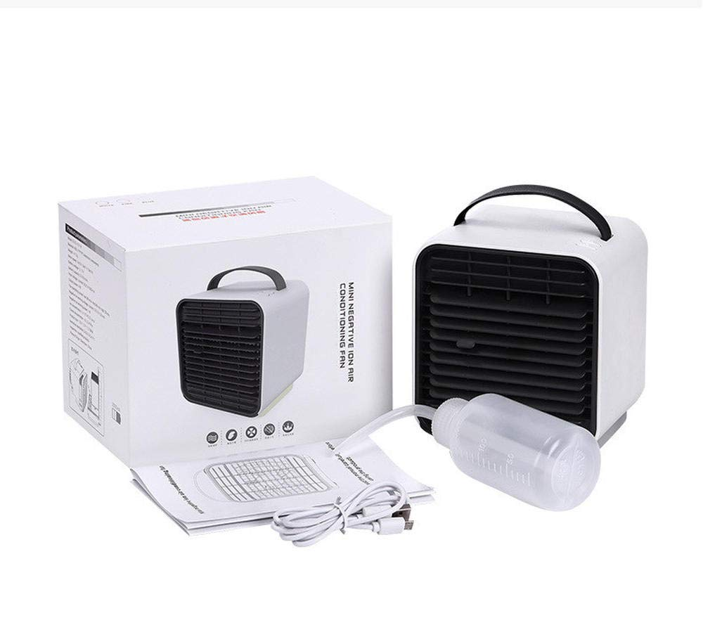 Lhxfan Aire Acondicionado Port/átil Enfriador Mini 3 en 1 Espacio Personal Enfriador de Aire Humidificador Purificador Ventilador Escritorio con 3 Velocidades para Casa//Oficina//Camper