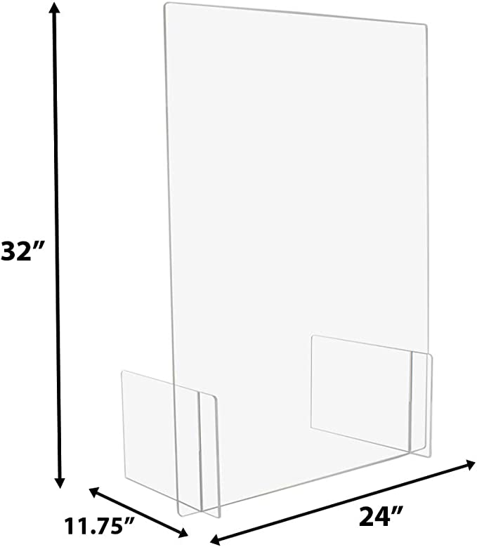 60x60cm Rabbfay Spit Protection Plexiglass Out Acrylic Glass Crystal Clear Plexiglass Bulkhead Virus Protection Secure Spit Protection Counter Top with Hatch