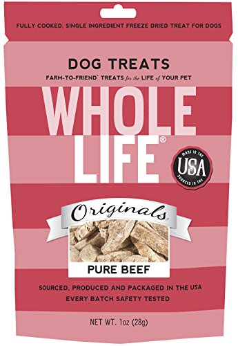 Whole Life Pet Single Ingredient USA Freeze Dried Beef Filet Treats for Dogs, 1-Ounce