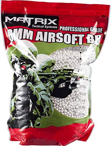 Evike Matrix Match Grade 6mm Airsoft BB Bulk Buy Bag - 0.25g / 20000 Rounds/White - (PID: 35513)