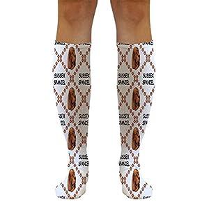 Funny Knee High Socks Sussex Spaniel Dog Paws Polyester Tube Women & Men 1 Size 36