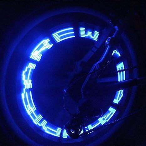 Beautyrain - Válvula de rueda de bicicleta LED para letras de luz ...