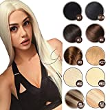 18-22 inch Blonde 100% Remy Clip in Human Hair Extensions Platinum Blonde Double Weft Real Human Hair Clip in Extensions Thick Long for Full Head (#60 100g 7pcs 18'')