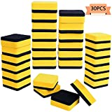 Xgood 30 Pack Magnetic Whiteboard Eraser Dry Erase Erasers Chalkboard Erasers Board Cleansers for Kids,Teachers,Classroom,Home and Office(Yellow,2 x 2 inch)