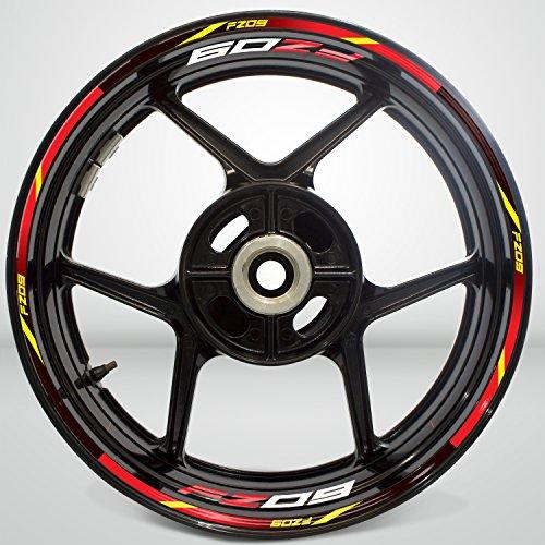 Well Wreapped Yamaha Fz09 Wheel Rim Sticker Decal Stripe