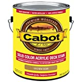 CABOT SAMUEL 1816-07 INC Gallon, Cedar, Solid Color Acrylic Deck Stain, 1 gal