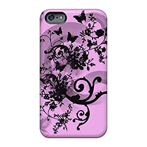 Apple Iphone 6 Plus QXO1821LZTg Unique Design Nice Butterfly Floral Abstract Pictures Anti-Scratch Hard Cell-phone Case -LauraAdamicska