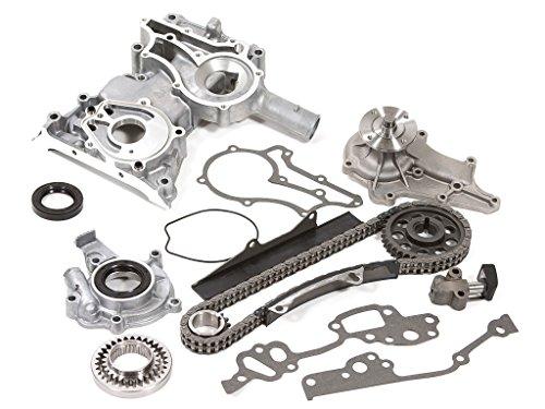 Evergreen TCK2001WOPT Fits 75-82 Toyota 2.2 SOHC 8V 20R / 2.4 SOHC 8V 22R Timing Chain Kit w/Timing Cover Oil Pump Water Pump ()