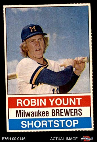 1976 Hostess # 11 Robin Yount Milwaukee Brewers (Baseball Card) Dean's Cards 3 - VG Brewers
