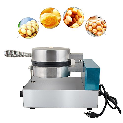 Carejoy Puffle Waffle Maker Stainless Steel Electric Egg Cake Oven Bread Maker Kitchen Restaurant Double-sided Pie Baking Pan Delicious Fried Food Snacks Making Machine 110V US Fast Shipment