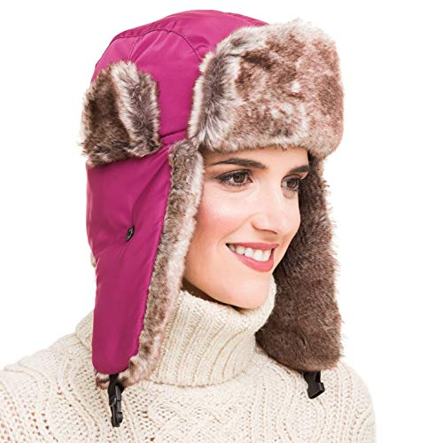 MELIFLUOS DESIGNED IN SPAIN Trapper Bomber Hat for Men and Women Russian Warm Fur for Ski Winter Hunting -