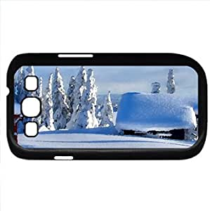 Winter (Winter Series) Watercolor style - Case Cover For Samsung Galaxy S3 i9300 (Black)
