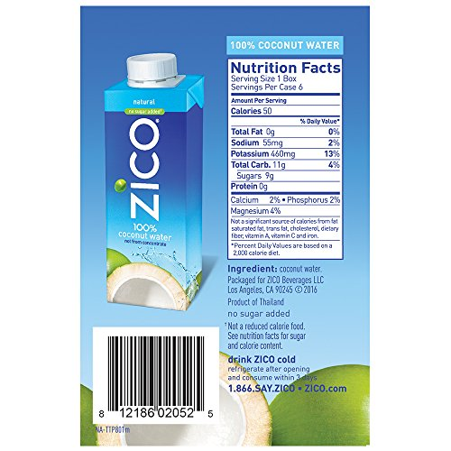 Zico Natural Coconut Water Ingredients
