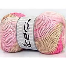 Lot of 4 x 100gr Skeins Ice Yarns YARNS Magic DK Pink Shades Beige