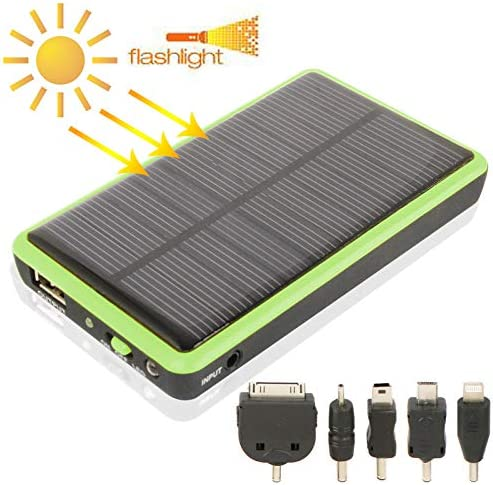 太陽光発電 2600mAh、ソーラー充電器とソーラーパネル(黄色) 屋外/旅行に適しています (Color : Green)