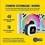 Corsair-Hydro-100i-RGB-Platinum-SE-Hydro-Series-240-mm-Radiator-Dual-LL120-RGB-PWM-Fans-Advanced-RGB-Lighting-and-Fan-Control-with-Software-Liquid-CPU-Cooler-White