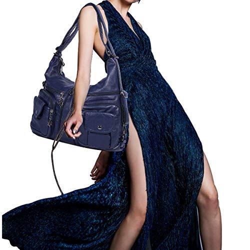 Elegante Spalla Firmate Morbida Borsetta Borsa Donna Tasche Con In E Angelkiss Hobo Cerniera Blu A Pelle Zainetto Tracolla Borse Messenger Mano YqOAB