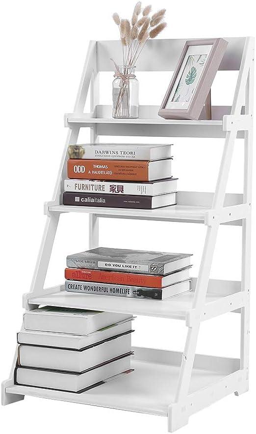 Estantería de 4 niveles estilo escalera de madera plástico, estante de almacenamiento con marco en A, escalera inclinada, soporte para plantas, estantería 44 x 43 x 85,8cm: Amazon.es: Hogar