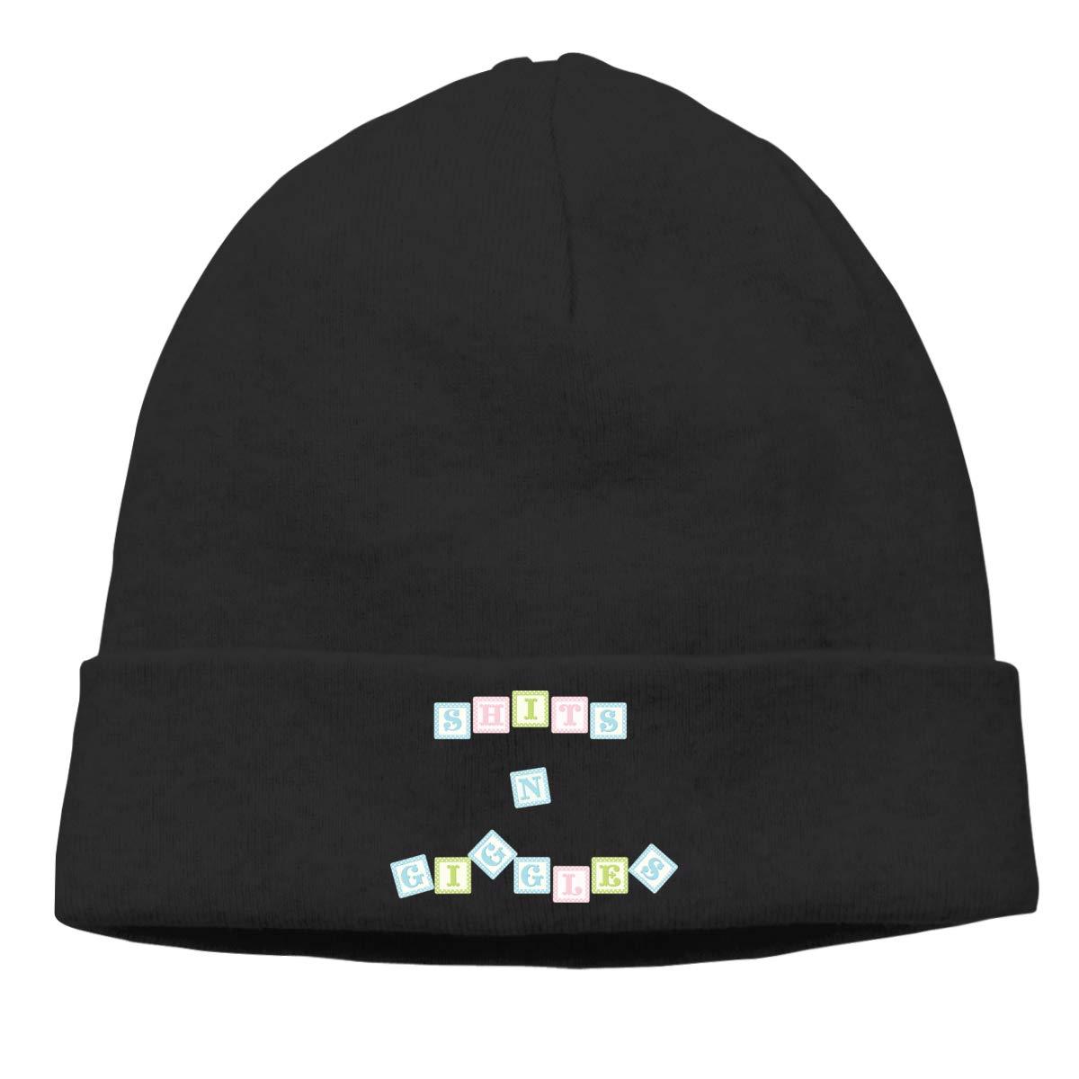 Riokk az Shits N Giggles Beanie Hats Skull Caps for Mens Black