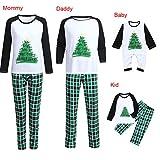 GzxtLTX Family Christmas Matching Pajama Set with Baby Xmas Tree Letter Printed We Wish You a Merry Christmas Plaid Sleepwear (110, White-Kids)