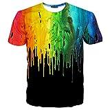 Hgvoetty Unisex Stylish Casual Design 3D Printed Short Sleeve T-Shirts Tees L