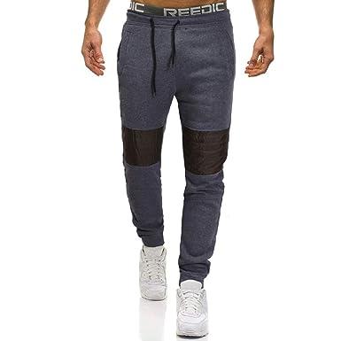 Logobeing Pantalones de Hombre, Chandal Casual Cargo Trabajo ...