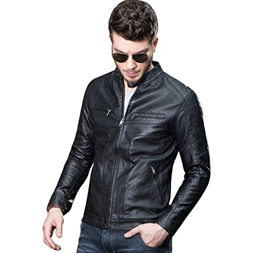 Buy dress leather jacket mens - 7