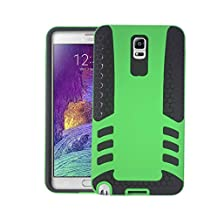 Samsung Galaxy Note 3 Drop Shock Protection [Double thick TPU with Grill Pattern] Rocket Case Cover - Green