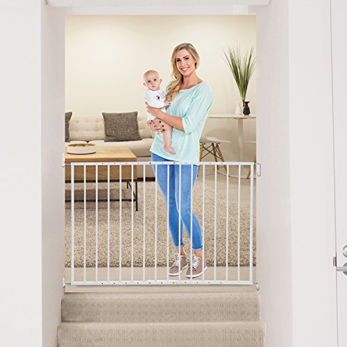 Dreambaby Arizona Extenda Gate – Hardware Mounted Security Gate for Top of Stairs Hallways and Doorways
